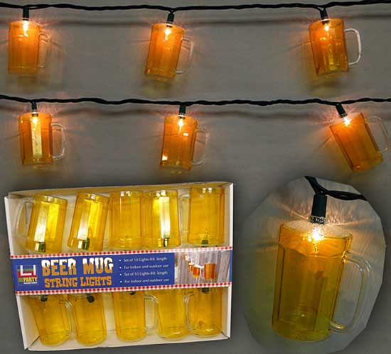 Fun Patio Lights Fun patio lights home design ideas and pictures beer mug string lights are fun festive and great on your patio by the pool workwithnaturefo